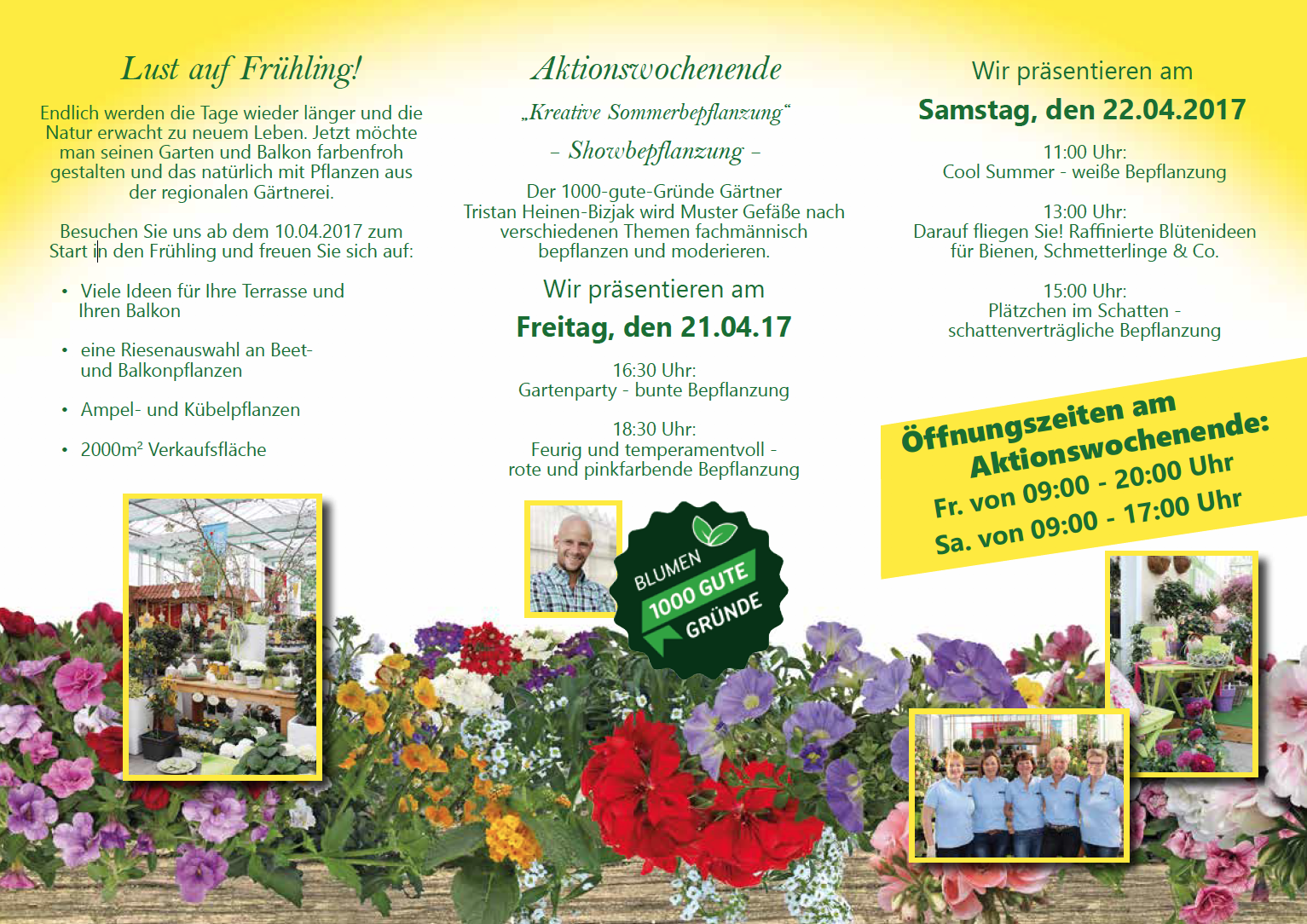 Gartenbau Welzel Beet- und Balkonsaison 2017